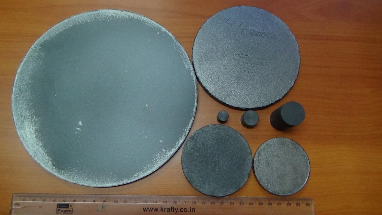 TiB2 dense flat shapes