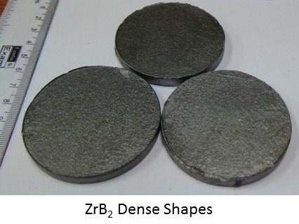 ZrB2 Dense Shapes